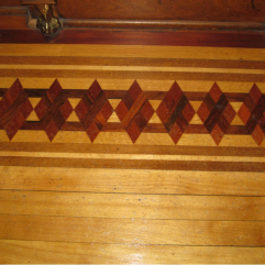 Inlaid floor found under carpet