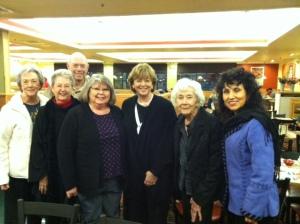 Left to right-Judy Wills, DiVoran Lites, Onisha Ellis, Lynn Shepherd (web genius) Louise Gibson, Janet Perez Eckles, Back row Bill Lites