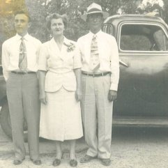 Milton with parents Ray and Estelle Lites