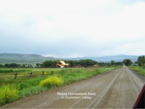 The original family homestead with new construction.