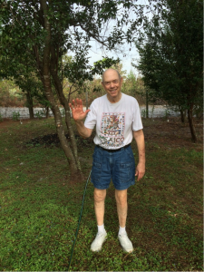 Bill in yard