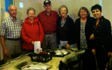 Fred (husband of Judy) Divoran,Bill, Judy, me and Janet