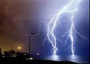 A violent electrical storm?