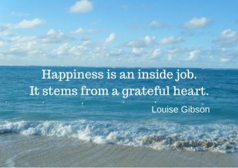 Happiness is an inside job.It stems from-3