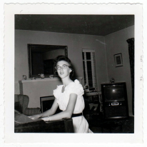 Judy at the piano-1956