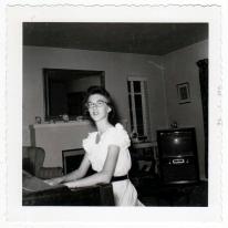 Judy at the piano-1956