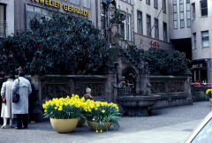 In front of fountain 1983