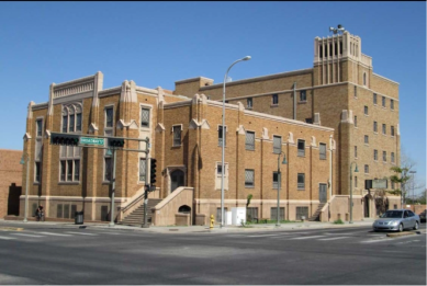 Original building, First Baptist Church, Albuquerque, New Mexico