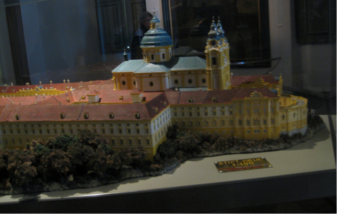 Here is a model of the Abbey
