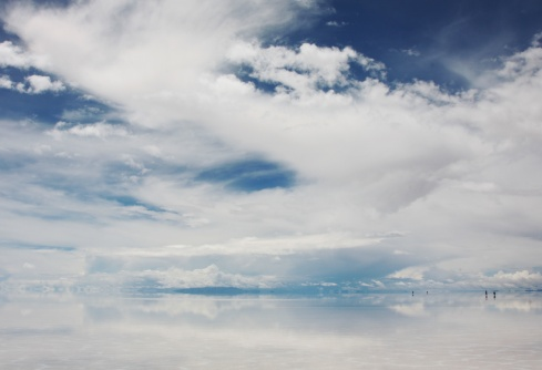clouds meet sea