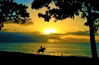 sunset-horse-rider-puerto-rico