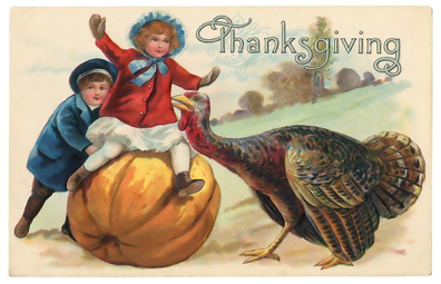 Vintage, Thanksgiving, Postcard