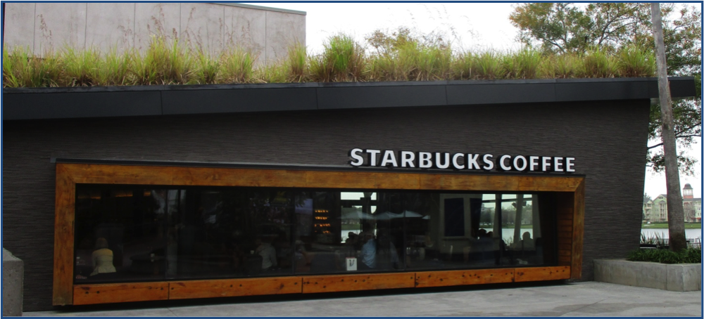 Description: Starbucks and grass top