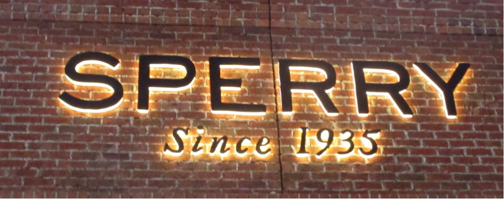 Description: Sperry sign