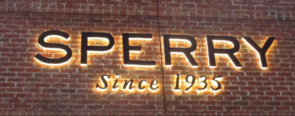 Description: Sperry sign
